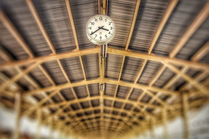 Hua Lamphong Railway Station, Located in bangkok, Thailand Railway Station Hua Lum Phong Clock Time Low Angle View No People Indoors  Selective Focus Clock Face Built Structure Wall Clock Pattern Instrument Of Time EyeEmNewHere