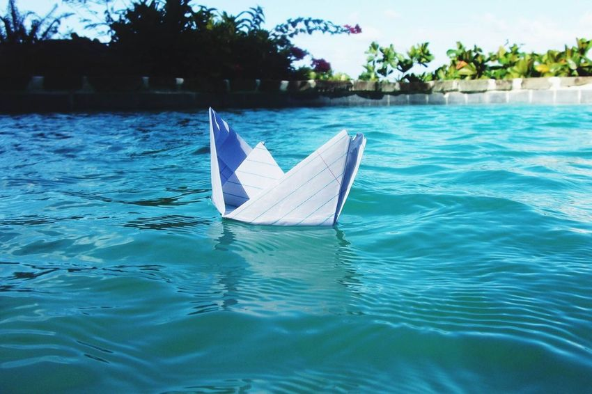 Art Boat Creative Creativity Day Floating On Water Lake Mode Of Transport Nature Nautical Vessel Outdoors Paper View Papercraft Rippled Sailboat Sailing Side View Summer Transportation Tropical Climate Vacation Vacations Water Landscapes With WhiteWall Macro Beauty
