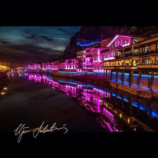 Amasya Architecture Building Exterior City Illuminated Instagram Merzifon Neon Night No People Outdoors Photo Photographer Photography Reflection Sky Ugurserbetci Ugurserbetci Water