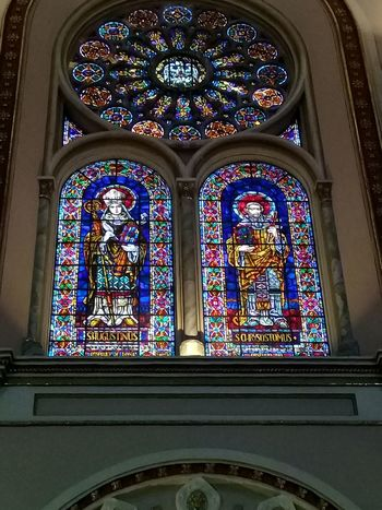 Catedral de Cuenca Catedral De Cuenca InmaculadaConcepcion Vitrales Window Stained Glass Religion Multi Colored Place Of Worship Arch Spirituality