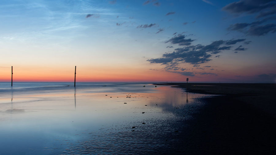Sky Water Scenics - Nature Sea Sunset Beauty In Nature Tranquil Scene Tranquility Horizon Over Water Horizon Cloud - Sky Land Beach Idyllic Nature No People Non-urban Scene Orange Color Outdoors Northsea Beachphotography