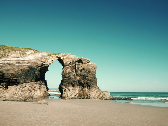 Arch Beach Geology Landscape Nature Ocean Rock Formation Rocks Sand Sky Stone Arch
