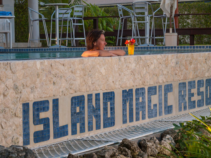 Island Magic Resort Efate Vanuatu . Efate is an island in the Pacific Ocean which is part of the Shefa Province in The Republic of Vanuatu. It is also known as Île Vate. It is the most populous (approx. 66,000)[1] island in Vanuatu. Efate's land area of 899.5 square kilometres (347.3 sq mi) makes it Vanuatu's third largest island. Most inhabitants of Efate live in Port Vila, the national capital. Its highest mountain is Mount McDonald with a height of 647 metres (2,123 ft). During World War II, Efate served an important role as a United States military base. Architecture Day Efate Island Leisure Activity Lifestyles Melanesian One Person One Woman Only Only Women Outdoors Pacific Pacific Ocean People Real People Swimming Pool Tourism Tourist Attraction  Travel Travelling Vanuatu Vanuatu Wedding Vivid International Women