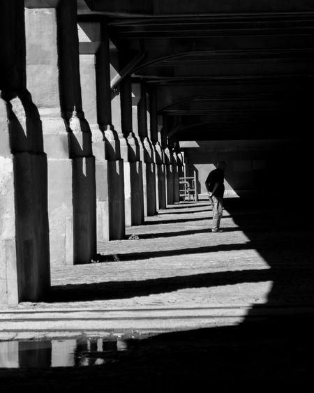 Shadow Of Person In Corridor