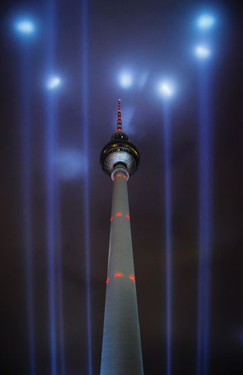 Architecture Night Berlin Sky Festival Of Lights Alexanderplatz Tower Illuminated Berlin Mitte Discover Berlin Communication Berliner Ansichten Television Tower Berlin Photography Travel Destinations Low Angle View Tall - High Built Structure