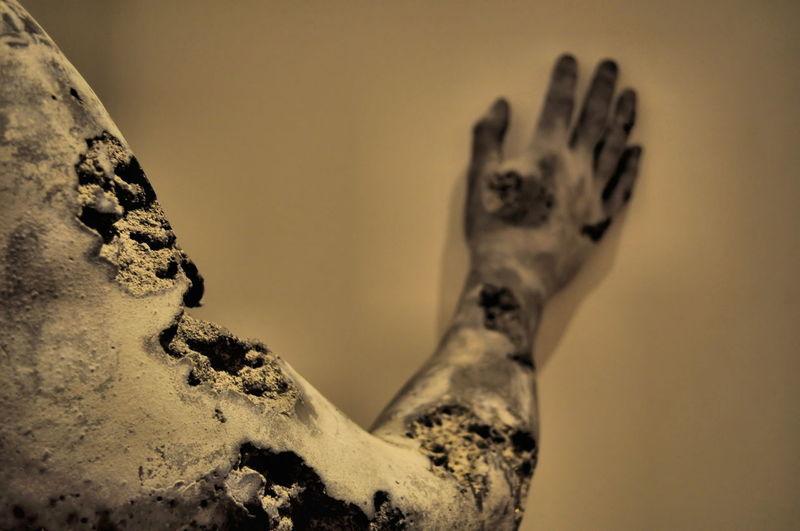 Hand Sculpture Distruction Close-up Desert Statue