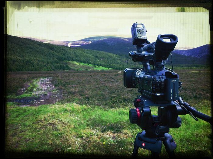 Filming A Golden Eagle In Cairngorm