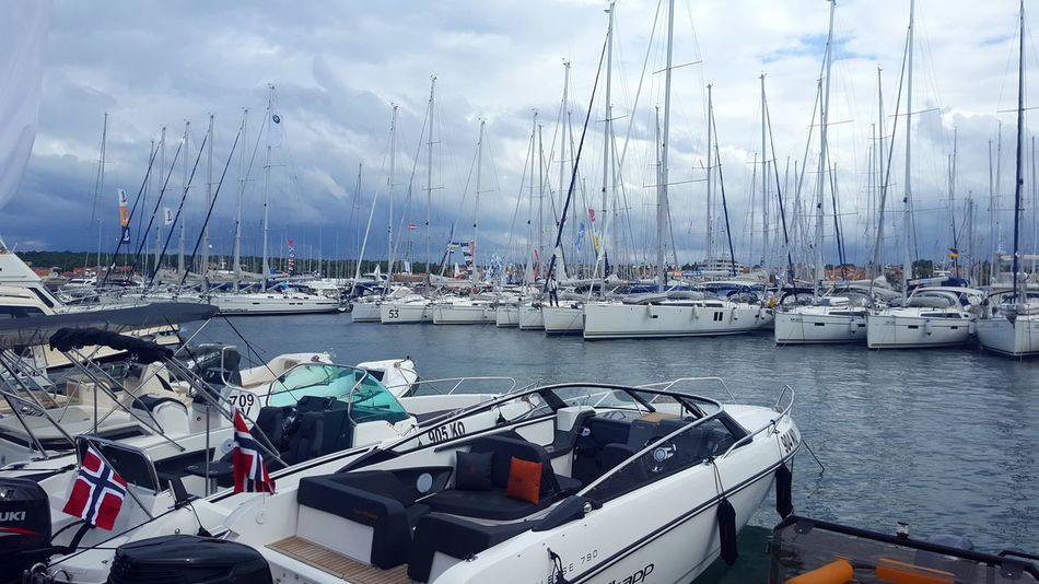 Transportation Mode Of Transport Nautical Vessel Cloud - Sky Sky Harbor Sea Water Outdoors Sailboat Nature No People Yacht Day Horizontal