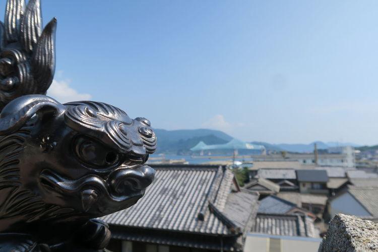 Shrine Art Object Killer Whale Bridge 生月島 平戸 神社 玉之森稲荷神社 鯱 Killer Whale Halberd 鯱鉾 生月大橋