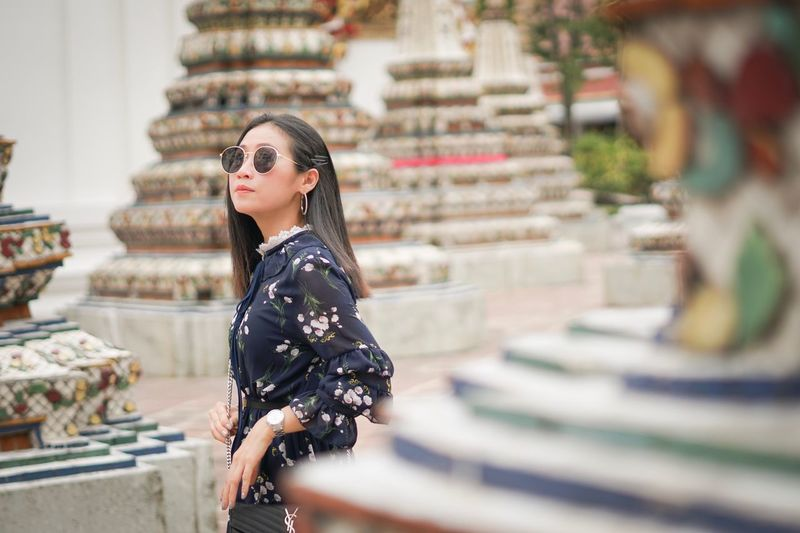 What that's Bangkok Thailand. Travel One Person Lifestyles Women Architecture Real People Young Women Young Adult Looking Built Structure Looking Away Focus On Foreground Beautiful Woman