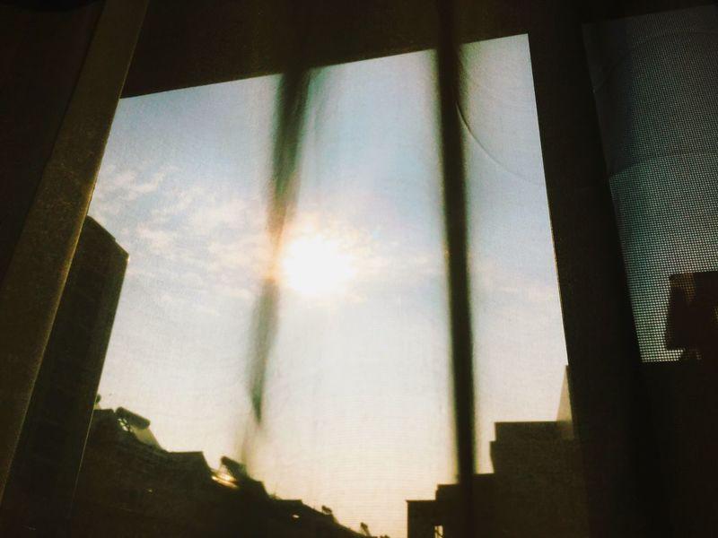Sunshine Window Window View Curtain Shadowy Morning