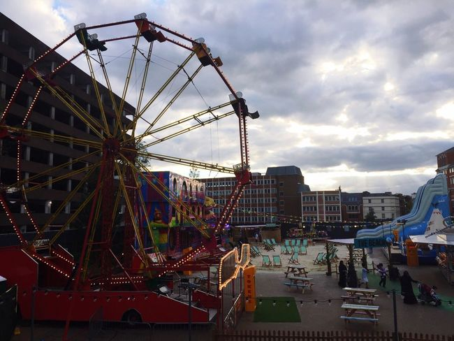 Colour Of Life Built Structure Urban City Life Faris Wheel Funfair Moody Sky Fariswheel Utbanlife