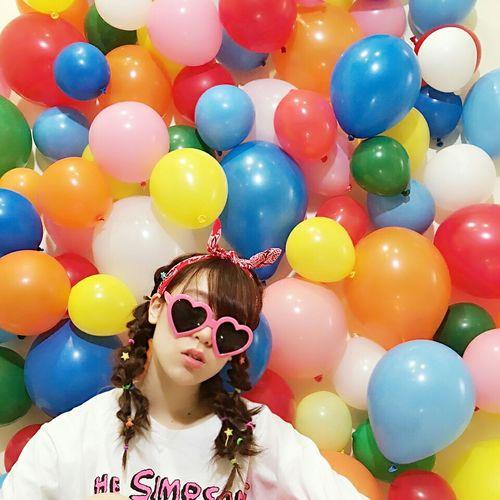 風船 Balloon 編み込み 三つ編み 裏編み ホップ ハッピー ヘアアレンジ ヘアセット まとめ髪 かわいい Hairset