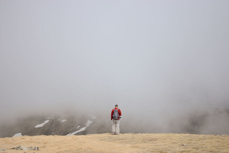 Above the cloud at Mount Furnica Above The Clouds Adventure Bucegi Mountains Bucegi Natural Park Cloudy Fog Furnica Hiking Landscape Leisure Activity Loneliness Mountain View One Man Only Outdoors Rear View Standing Tranquil Scene Outdoors Transylvania Travel Photography Traveling Walking Neighborhood Map Breathing Space Lost In The Landscape Second Acts EyeEm Ready   Shades Of Winter An Eye For Travel Colour Your Horizn This Is Masculinity Go Higher This Is Aging Be Brave A New Beginning