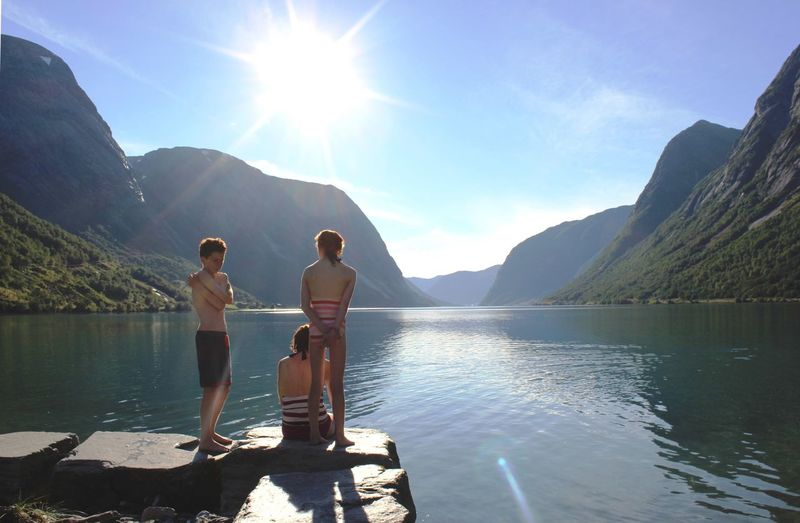 Swimming Shore Lakeshore Lake Carefree Norway Water Getting Away From It All Coastline Fjord Scenics Jetty Norwegian