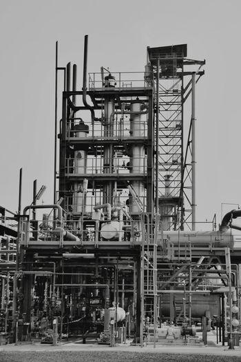 Factory against sky