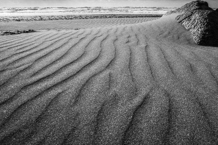 Sand Landscape Sand Dune Blackandwhite Beach Raglan Nz Raglan Sand Art Textures In Nature