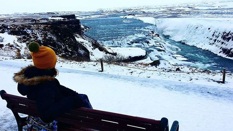 Igers Iceland Landscape Nature Beautiful Awesome Waterfall Followme Cold Amazing Snow Goldencircle Gullfoss Photooftheday Note3 Photographer