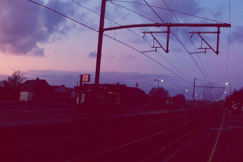 Vanishing Point Trainstation Beautiful Sunrise