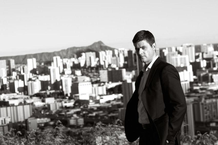 Portrait Handsome Blackandwhite Suit Diamondhead People And Places The Color Of Business