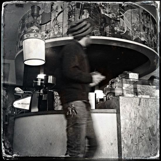 AMPt_community Bw_collection NEM Black&white Coffee Shop Scene