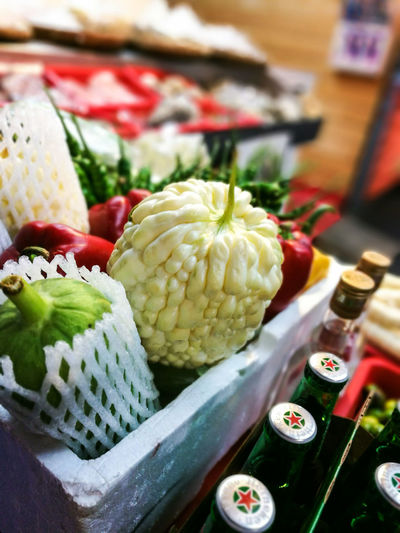 White bitterguard, a special vegetable in Taiwan. RarePlants Vegetables Asian  Food Freshness Closeup Traveling Home For The Holidays