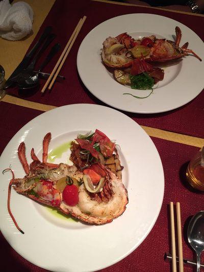 いただきます Abendessen Garnelen Hummer Dinner Gutenappetit Delicious Yammy!!  Spiny Lobster Homard Lecker EBI Shrimps Lobsters Feierabend Tasty Happy Voll Full おいしい