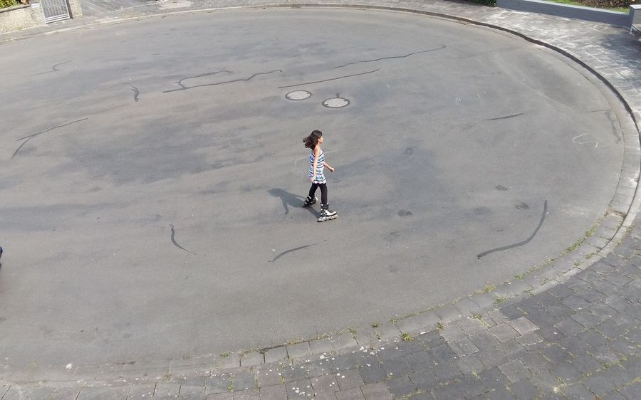 #FREIHEITBERLIN Full Length Child Youth Culture Childhood Playing City Fun Skating One Teenage Girl Only Roller Skate Hockey Teenagers Only