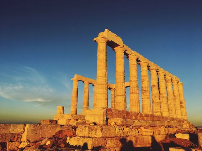 Athens, Greece Ruins History Built Structure Ancient Civilization Ancient Old Ruin Architecture The Past Archaeology Tourism Travel Destinations Outdoors Cultures Greece Travel Temple Of Poseidon The Architect - 2017 EyeEm Awards Sky Ancient Architecture Old Building Exterior Day No People Place Of Worship Archaeology Architectural Column The Architect - 2018 EyeEm Awards