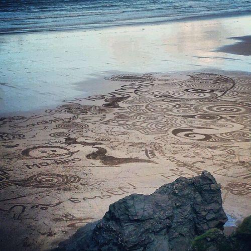 Tolcarne Beach Movember Amazing artstunning