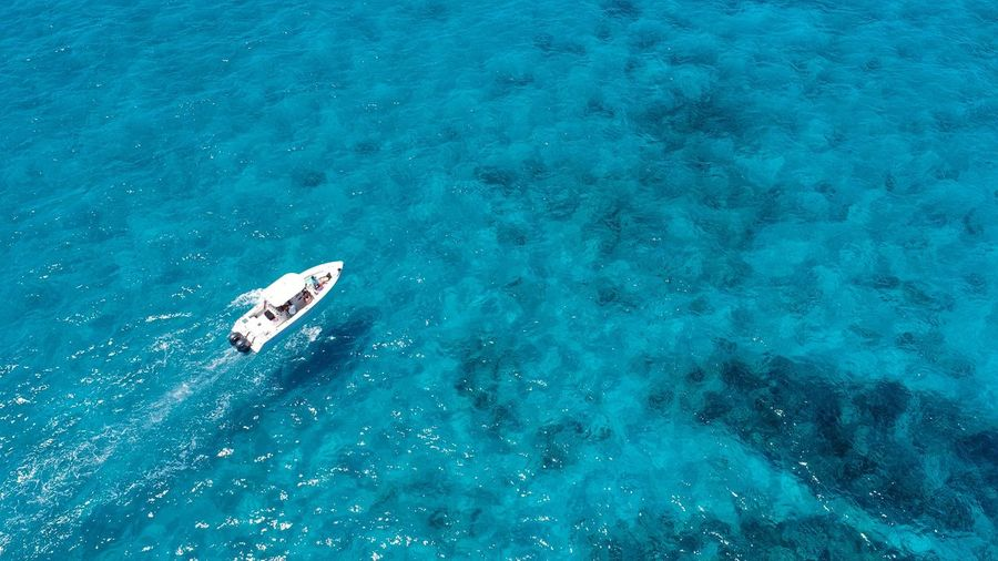 Looe Key aerial view High Angle View Water Sea Aerial View Nautical Vessel Nature Vacations Blue Outdoors Beauty In Nature UnderSea Swimming Florida Keys Florida Boating Boat Drone