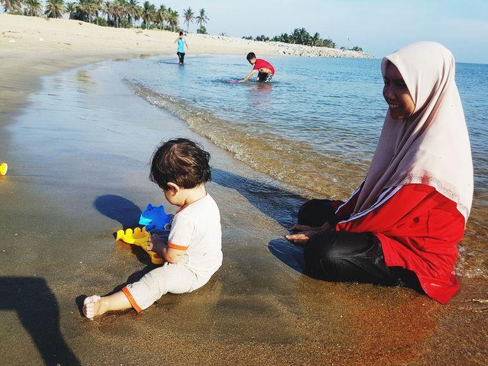 beach please!!! Water Togetherness Beach Men Boys Sand Sea Full Length Childhood Women Wave