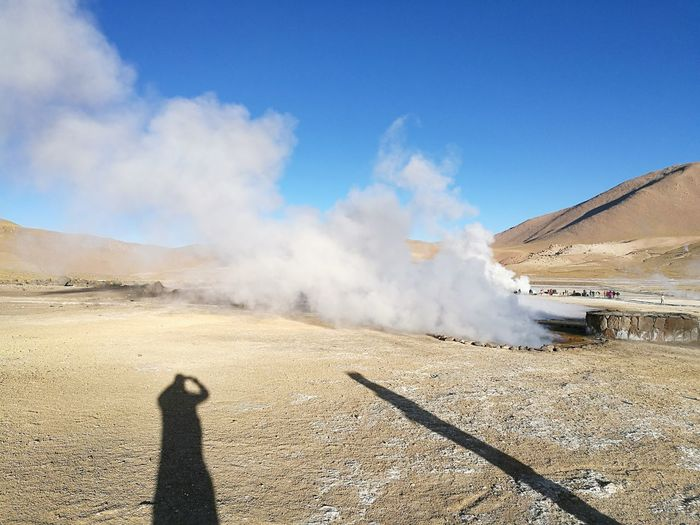 EyeEm Selects Heat - Temperature Smoke - Physical Structure Outdoors Desert Nature Volcanic Landscape Day Landscape Sand Sand Dune Steam Sky No People Scenics Arid Climate Beauty In Nature Hot Spring