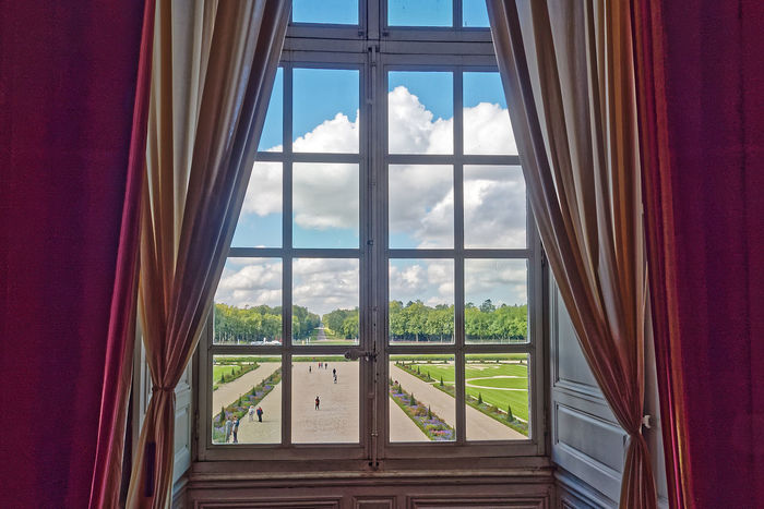 Chateau De Chambord Architecture Château Close-up Curtain Day Drapes  Indoors  Nature No People Sky Tree Window