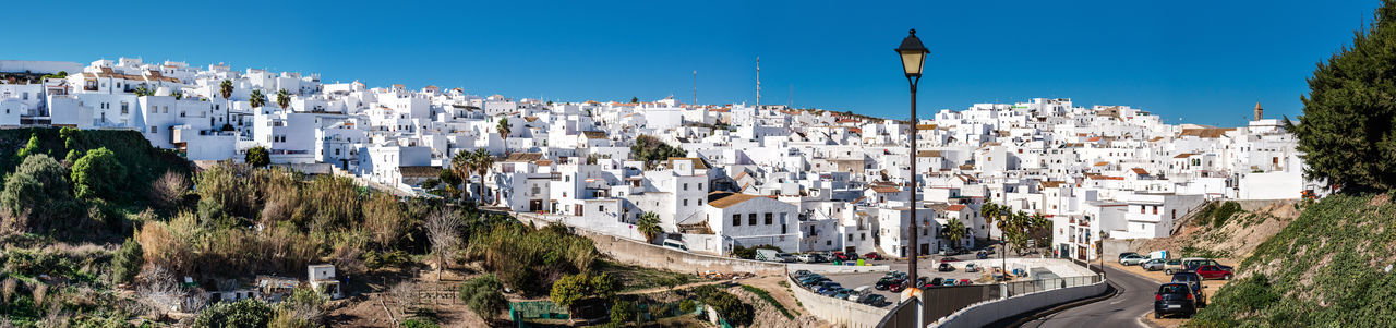 Panorama of Vejer de la Frontera. Costa de la Luz, Spain Andaulcia Architecture Costa De La Luz Countryside Cádiz, Spain Europe Famous Place Hillside Landmark Landscape Mediterranean  Outdoors Panorama Panoramic Picturesque Village Pueblo Blanco Skyline SPAIN Street Town Travel Destinations Vejer De La Frontera  Village Whitewashed Houses Wide Angle