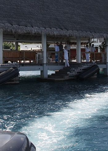 Architecture Beach Blue Boattrip Built Structure Cruise Enjoying Life EyeEm Best Shots Finding New Frontiers Hello World Journey Large Group Of People Maldives Ocean Outdoors Pier Say Goodbye Sea Summer Taking Photos Thatched Roof Travel Vacation Water Wave