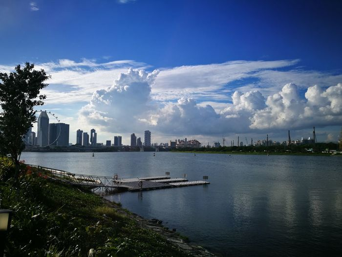Cloud - Sky Skyscraper Water City Urban Skyline Architecture Sky Cityscape Modern Travel Destinations Downtown District Outdoors Building Exterior Business Finance And Industry No People Night Tree