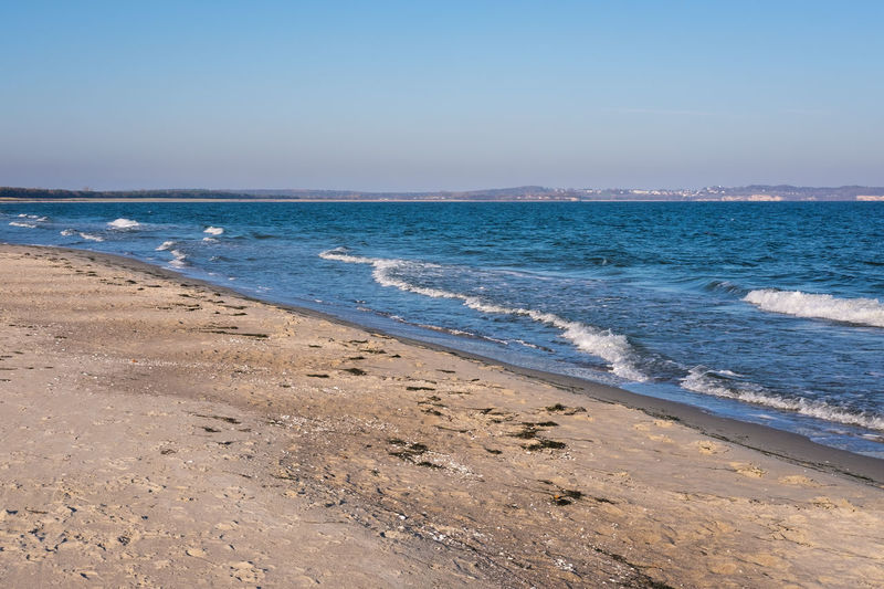 Sea Beach Water Land Sky Scenics - Nature Motion Beauty In Nature Sand Wave Tranquility No People Horizon Nature Tranquil Scene Aquatic Sport Sport Horizon Over Water Outdoors