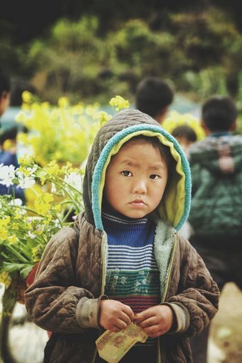 Childhood Children Only Child Front View One Person Jacket People One Boy Only Warm Clothing Males  Outdoors Day