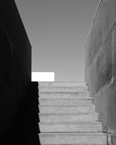 Staircase Steps Steps And Staircases Railing Stairs Architecture Built Structure Low Angle View No People Clear Sky Day Hand Rail Outdoors TheMinimals (less Edit Juxt Photography)