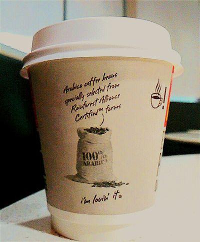 Macca's The Golden Arches Golden Arches Coffee Cups Coffee Brekkie Mc Café Cappucino Mc Donald's I'm Lovin' It