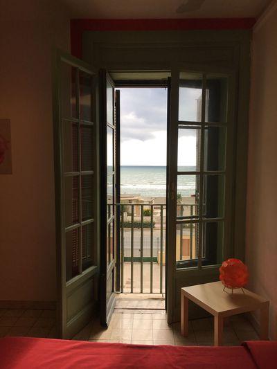 Window Sea Horizon Over Water Beauty In Nature Indoors