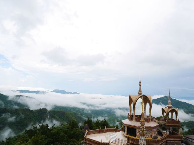Mist Pha Sorn Kaew Temple Thailand Temple Thailand High Angle View Skyviewers KhaoKho,Thailand Temple