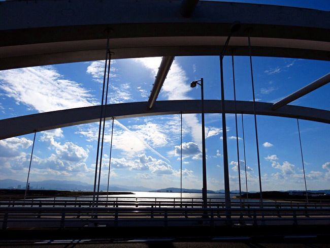 海の中道大橋 橋 Bridge Bridge View On The Bridge Sea Sky Sun Sunlight Sunlight ☀