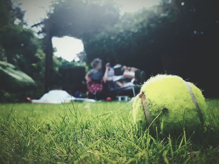 This Is Summer day 7. In The Garden Sunday Afternoon Sunny Day Tennis Ball Playing Reading Relaxing Making Mess British Summertime