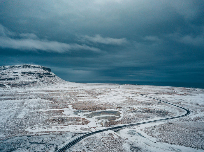 Road in winter Aerial Shot DJI X Eyeem Drone  Iceland Iceland Memories Icelandic Nature Aerial Aerial View Beauty In Nature Cloud - Sky Cold Temperature Day Environment Frozen Iceland Trip Iceland_collection Idyllic Land Landscape Mavic Mavic Pro Nature No People Non-urban Scene Scenics - Nature Sky Snow Snowcapped Mountain Tranquil Scene Tranquility White Color Winter