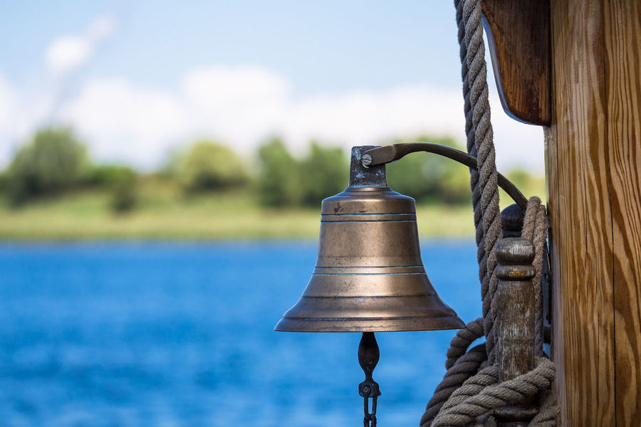 Bell on a sailing ship. Close-up Day Detail Focus On Foreground Journey Maritime Nature No People Outdoors River Rostock Sailing Ship Sky Tall Ship Tourism Travel Warnow Water Windjammer