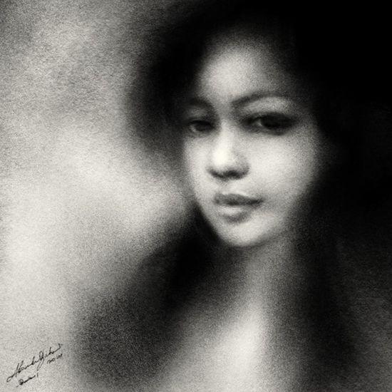portrait drawing Drawing Art ArtWork Portrait Blackdrawing