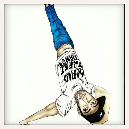 bboy abdel Drawing by Sam with graphictablet on Mangastudio. Art Bboying Hip Hop