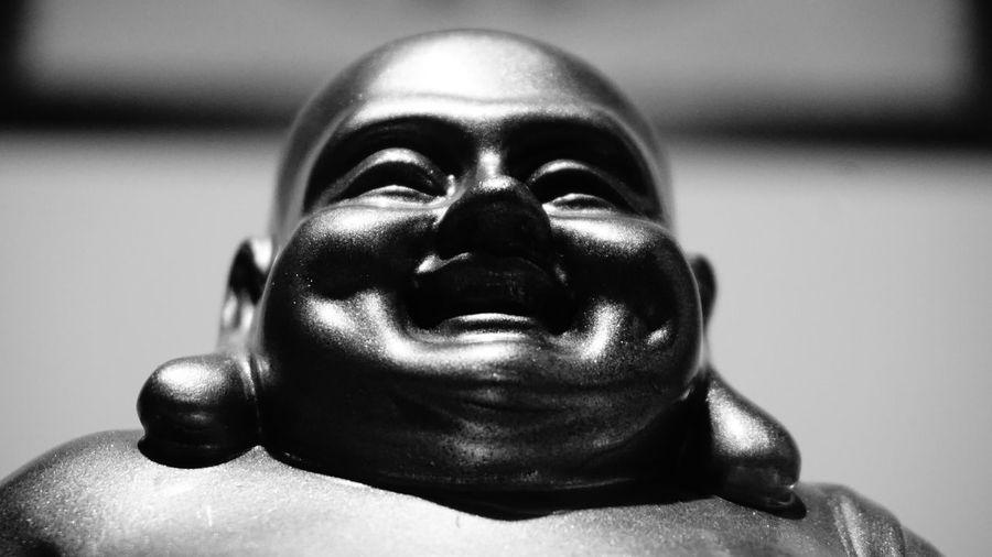 Buda Happiness Black And White No People Primer Foto Religion Spirituality Statue first eyeem photo